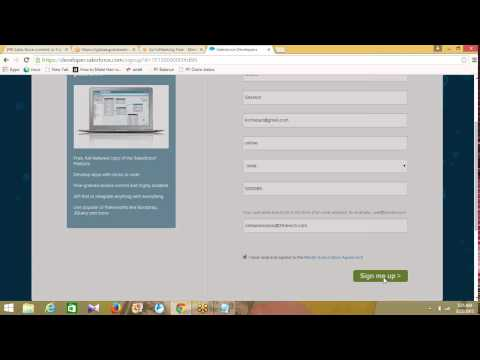 Sales Force online training demo class