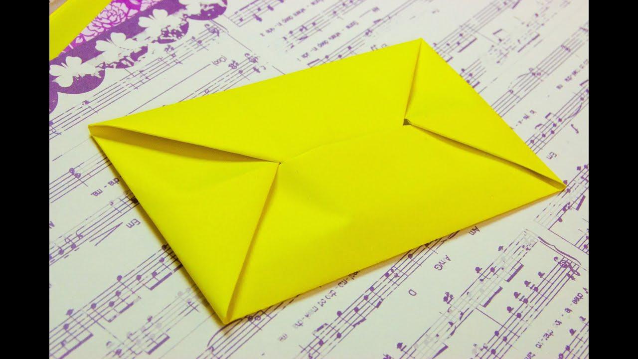Como hacer un sobre para cartas origami papiroflexia  YouTube