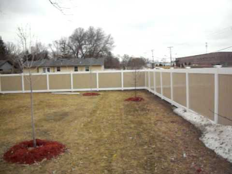 Two Tone Vinyl Privacy Fence Bloomington Mn Youtube