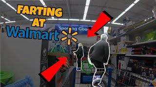 Farting At Walmart Prank With Bubbles - THE POOTER