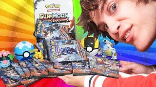Opening a Pokemon Burning Shadows Booster Box!