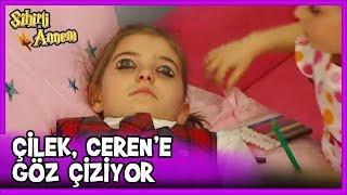 Çilek, Ceren'in Zorla Gözlerini Boyuyor - Sihirli Annem 58. Bölüm