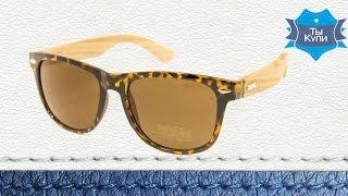Солнцезащитные Wayfarer очки унисекс деревянные дужки купить в Украине. Обзор