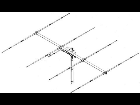 montage antenne yagi 4 elements youtube. Black Bedroom Furniture Sets. Home Design Ideas