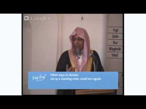 Friday Khutbah: Helping the needy and opressed in Syria