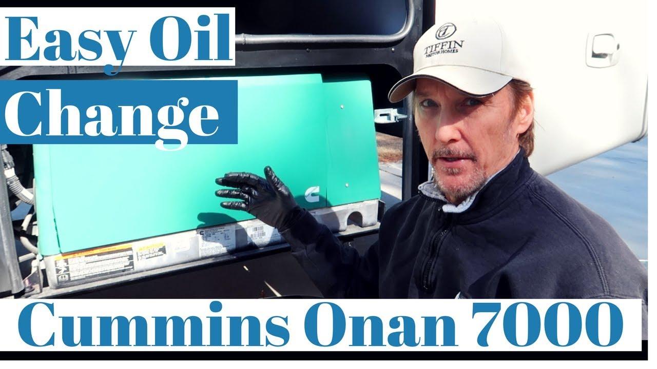 Oil Change on a Cummins Onan 7000 Generator