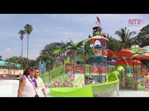 Inauguran el parque acuático Six Flags Hurricane Harbor Oaxtepec