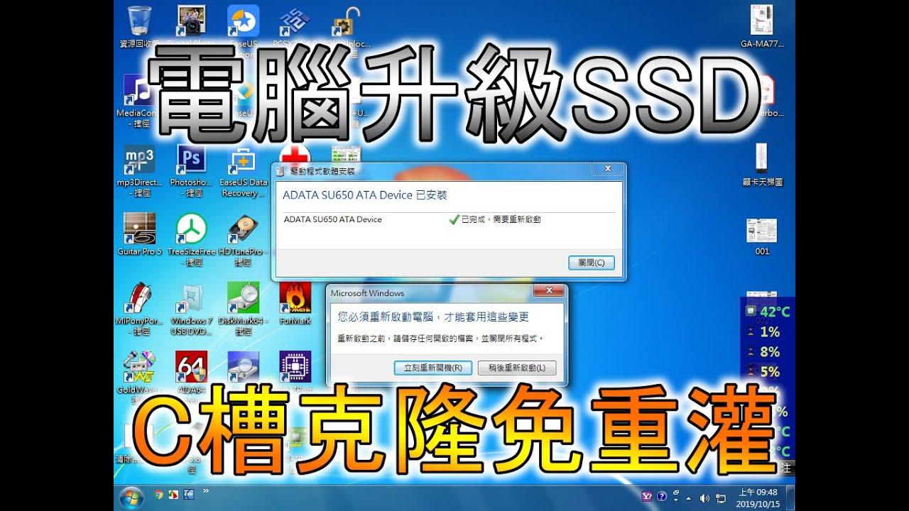【haiyabusa】電腦升級更換SSD 系統克隆不重灌 - YouTube