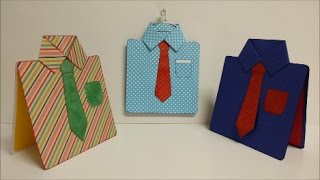#diy Art and #craft #tutorial : #howto make Shirt card / Father's day card