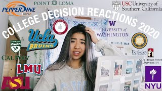 COLLEGE DECISION REACTIONS 2020