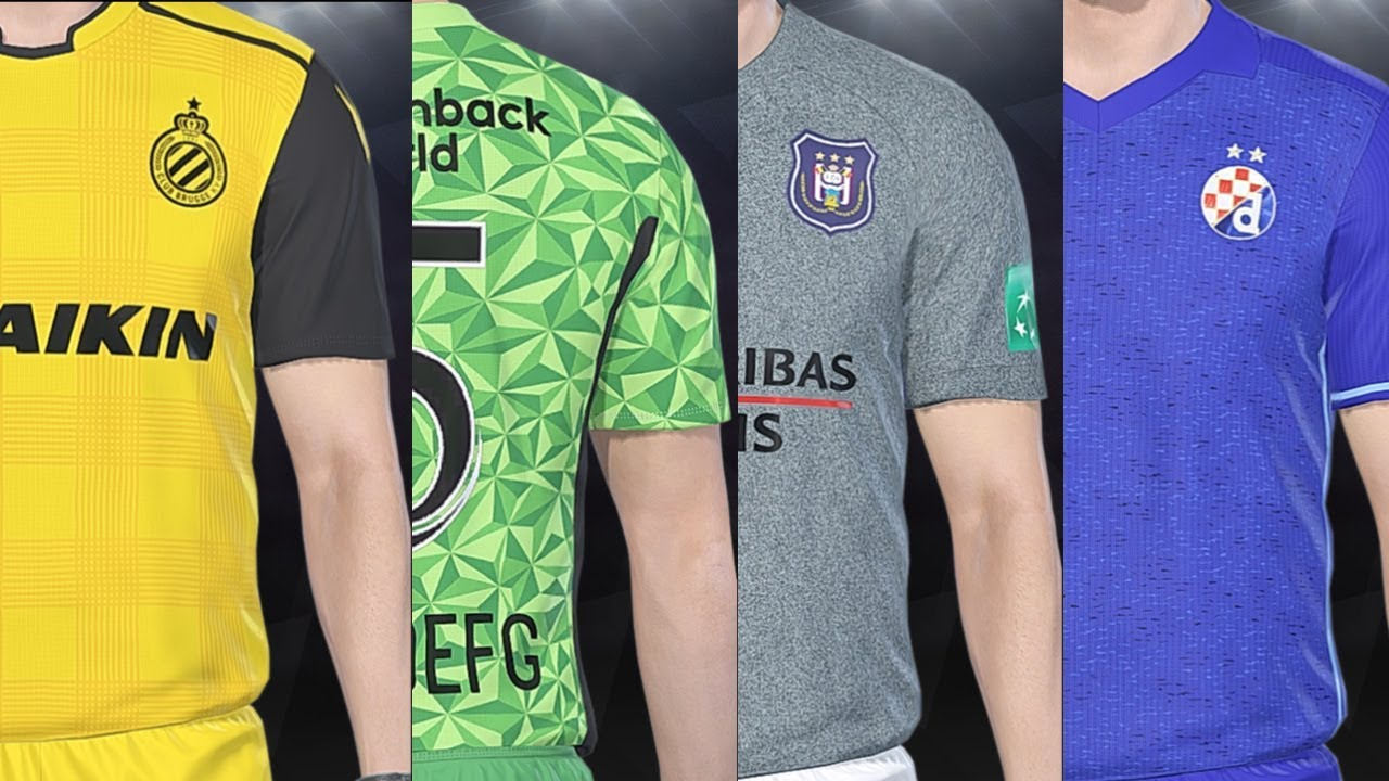 PES 2018 - Other European All Teams Kits And Ratings