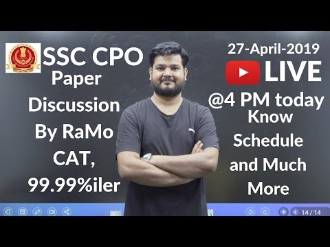 #RaMoLive CPO Paper Discussion by RaMo, CAT 99.99%iler, Schedule Announcement