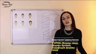 Урок 2: Формы лица, формы бровей, коррекция формы лица