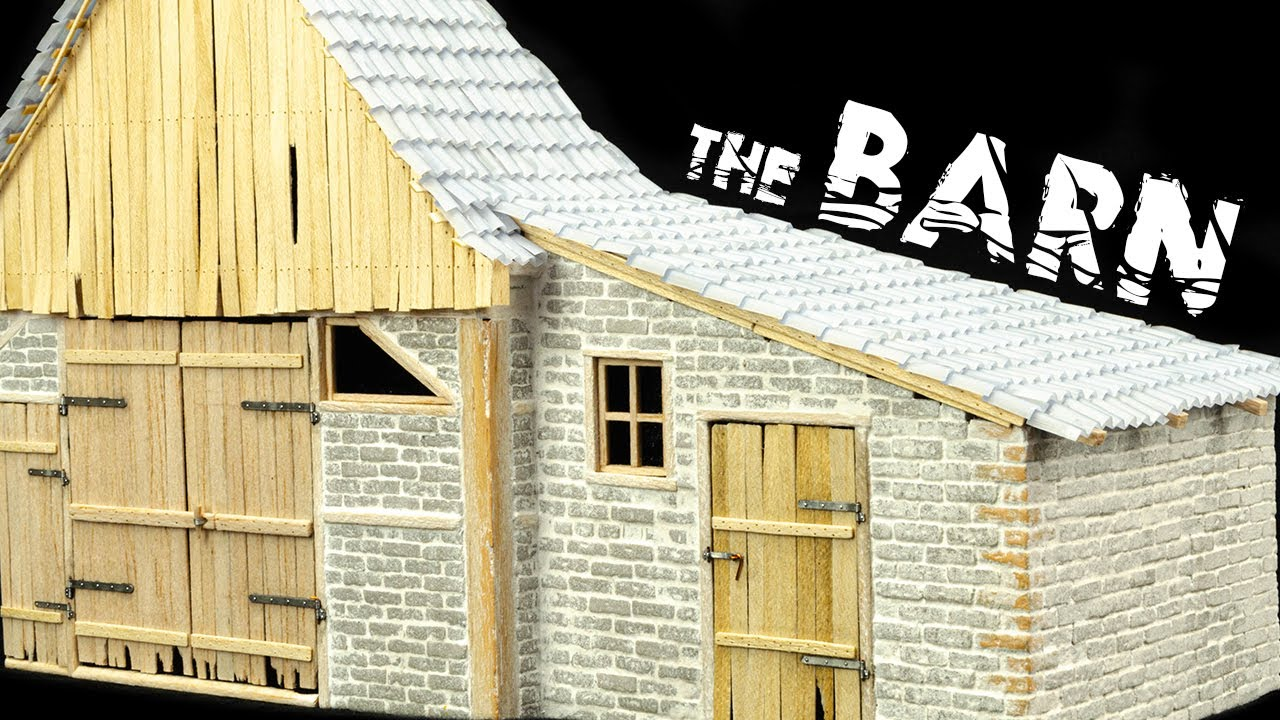Let's Build A Barn From Styrofoam And Balsa Wood!