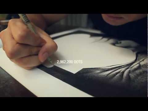 Vẽ tranh đẹp ấn tượng bằng cách chấm viết lên giấy.mp4