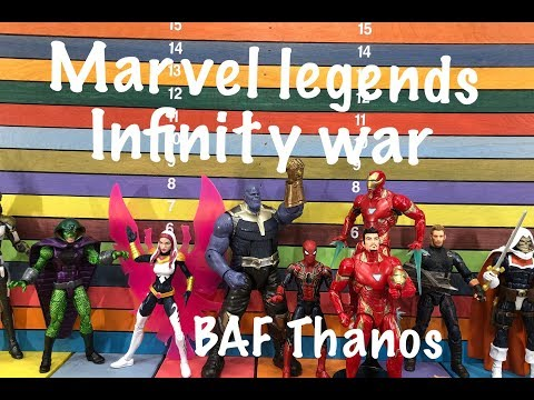 Marvel Legends INFINITY WAR BAF THANOS wave action figures toy review