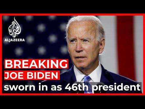The presidential inauguration of Joe Biden
