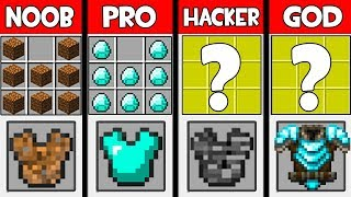 Minecraft - NOOB vs PRO vs HACKER vs GOD : SUPER ARMOR in Minecraft ! AVM SHORTS Animation
