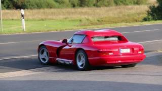 Oldskool American supercar: Dodge Viper RT/10 Roadster startup and acceleration [Lovely Sounds]