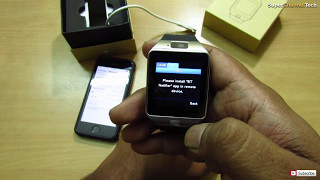 How to use DZ09 Smart watch with Iphone