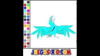 Juego: Colorear Rio Blu