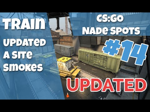 CS:GO Nade Spots Ep #14 - UPDATE New Train A Site 9 Smokes - Quick Version - Jamiew_
