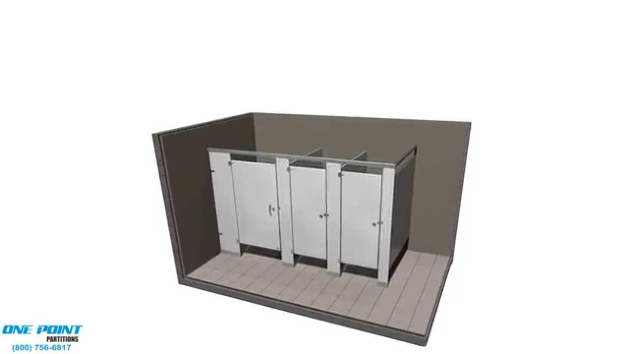 Bathroom Partitions Halifax toilet partition installation stainless steel - youtube