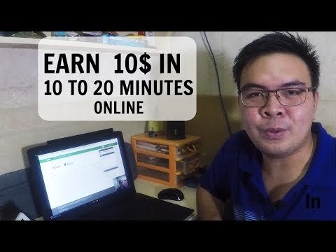 Paano kumita ng 10$ sa Online Job in 20mins in Philippines at home