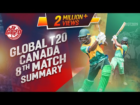 Chris Gayle's unbeatable 122 in 54 balls Match 8 Highlights | GT20 Canada 2019