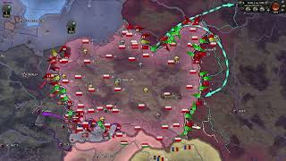 WWII Timelapse but Poland has 1000 more infantry divisions