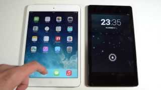 Retina iPad mini 2 vs Nexus 7 2013 - Size, Performance, Browser, Gaming Comparison