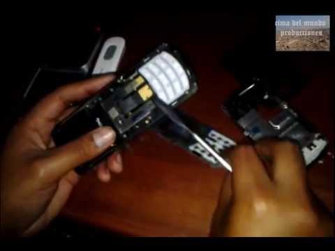 cambio de flex samsung GT-E2550 reparacion de celulares -