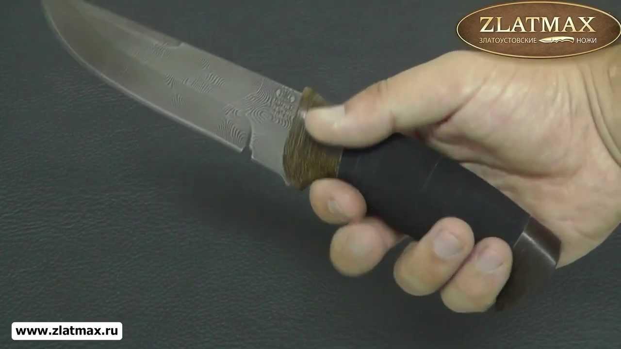 Видео Нож Н8 Спецназ (У10А-7ХНМ, Микропористая резина, Текстолит)