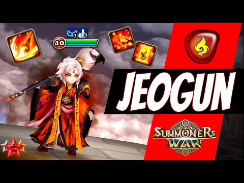 The Power Of NEW Fire Art Master Jeogun In Summoners War