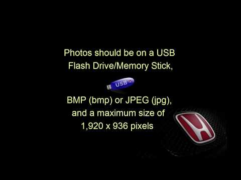 How to Upload a Picture/Wallpaper To Your Honda Dash