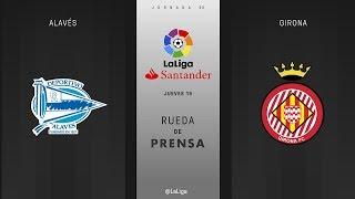 Rueda de prensa Alavés vs Girona
