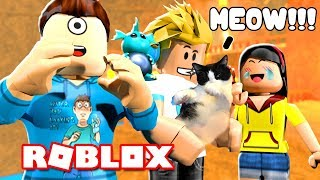 CHAD'S CAT MADE US LAUGH SO HARD IN ROBLOX DEATHRUN! MicroGardien
