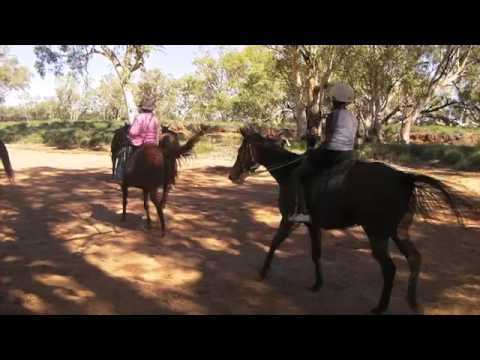 Riding Horses in the Todd River