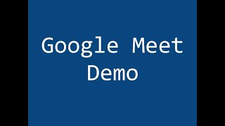 google meet present and record demo
