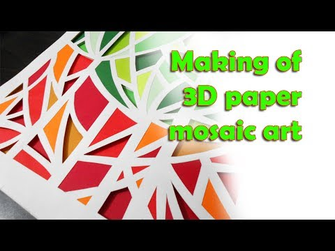 Making of 3D paper mosaic Art for wall mount