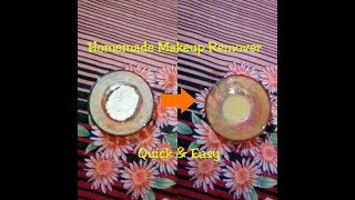 (हिन्दी) ।। Easy & Quick Homemade Makeup Remover ।।  PART 1 ।। Beauty Tips