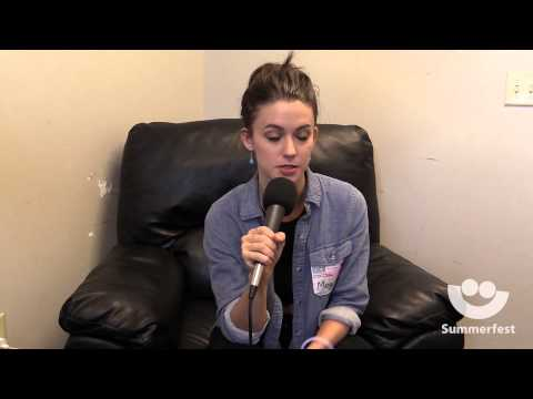 Meg Myers on her personal writing process - Summerfest 2015