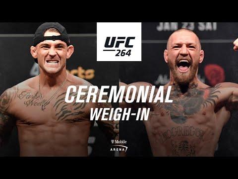 UFC 264: Ceremonial Weigh-in | Poirier vs McGregor 3