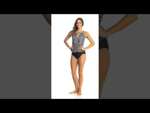 Maxine Rain Dance Faux Tankini One Piece Swimsuit   SwimOutlet.com