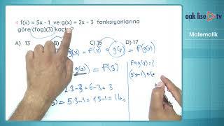 En çok çıkan sorular - Matematik 3 - Fonksiyonlar