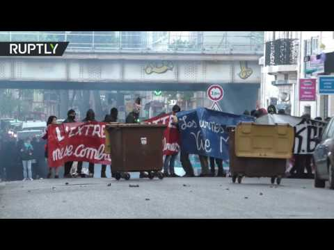 'Migrants, welcome': Anti-Le Pen protesters clash with police in Marseille