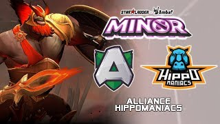 Alliance vs Hippomaniacs | StarLadder ImbaTV Dota 2 Minor Season 2