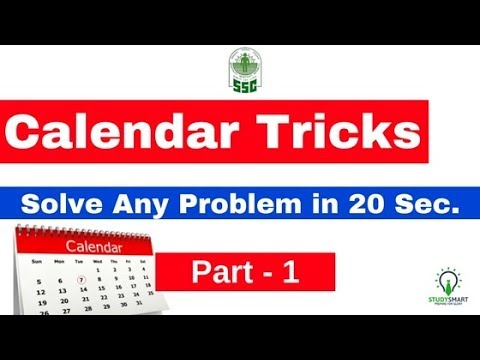 Calendar Reasoning Tricks to Solve any Problem in 20 sec. | SSC CHSL/ RRB   [ In Hindi ] Part 1