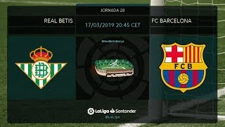 Calentamiento Real Betis vs FC Barcleona