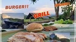 ทำเบอร์เกอร์ด้วยหินแร่ธรรมชาติ อร่อยม่วกกก